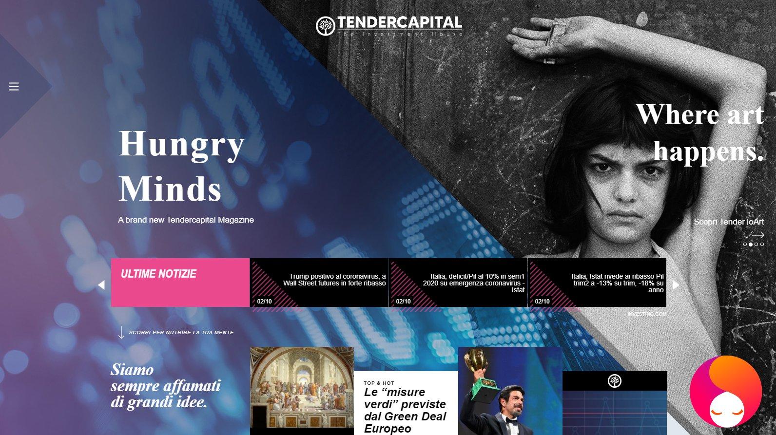 AIDA: Sito Web di Tender Capital